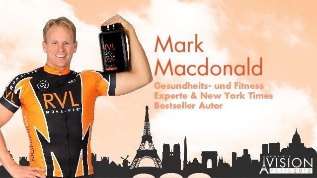 Mark Macdonald Gesundheits- und Fitness Experte & New York Times Bestseller Autor