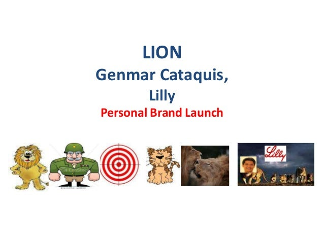 LIONGenmar Cataquis,        LillyPersonal Brand Launch