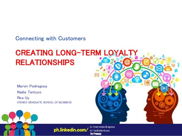 creating long term loyalty relationships As opposed to transactional marketing's focus on one-off sales, a good relationship marketing strategy is rooted in building customer loyalty and lasting, long-term engagement with your customer base benefits include increased word-of-mouth, repeat business, and a willingness on the customer's part to provide valuable feedback to the company.
