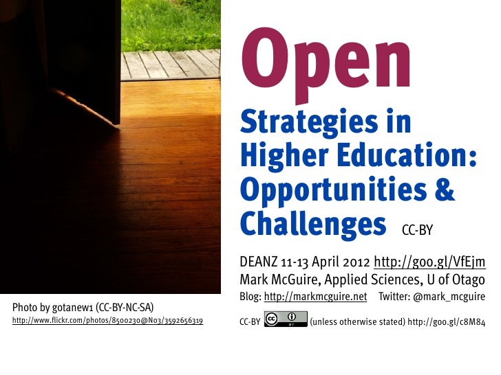 """Mark McGuire - """"Open Strategies in Higher Education: Opportunities and Challenges"""""""