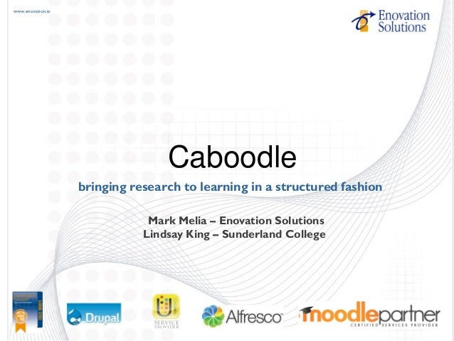 www.enovation.ie bringing research to learning in a structured fashion Caboodle Mark Melia – Enovation Solutions Lindsay K...