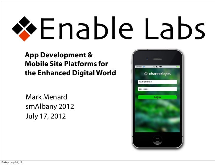 Mobile Platforms and App Development