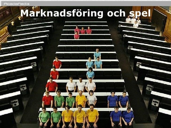 MarknadsföRing Och Spel    1