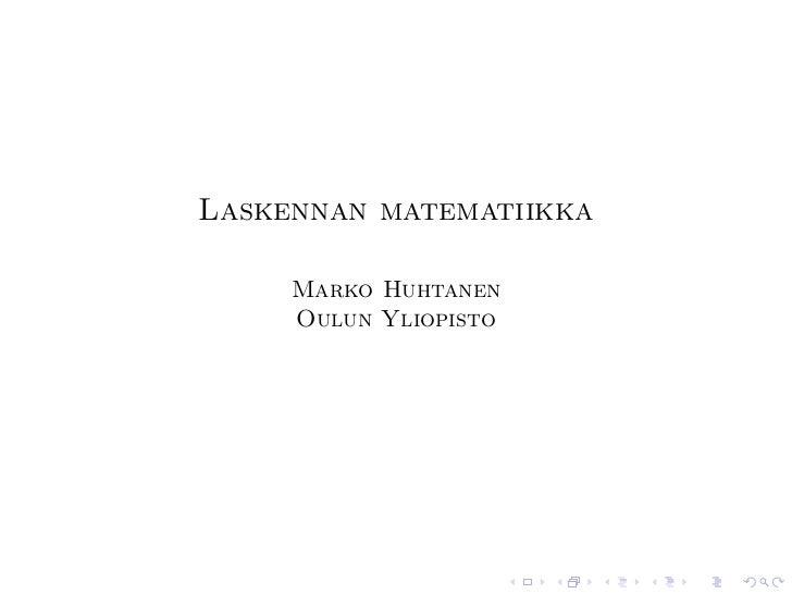 Laskennan matematiikka