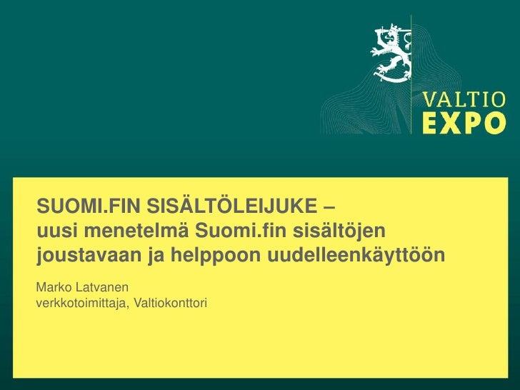Suomi.fi:n sisältöleijuke