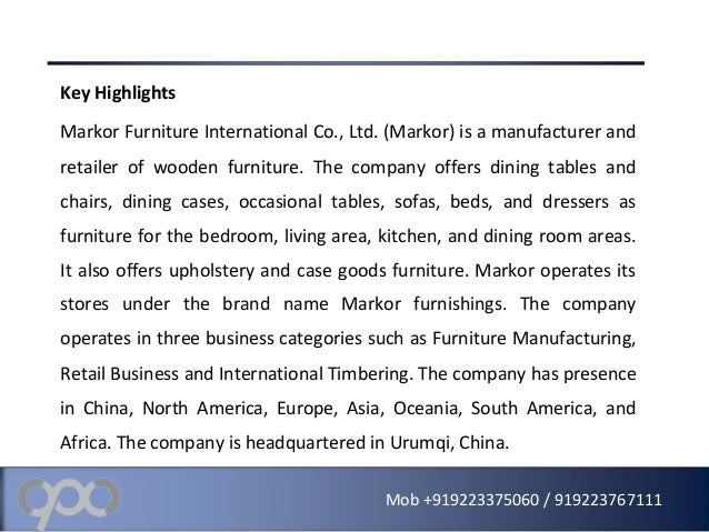 international business case palliser furniture ltd Palliser furniture ltd is a family-owned furniture business originated in canada it was primary run by de-fehr and his 3 sons we see from the case the challenges that palliser has faced in the domestic furniture market and the internationalization initiatives which it has taken till now.