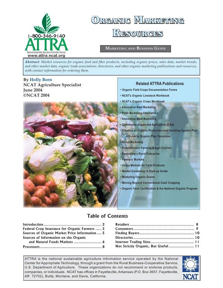 Organic Marketing Resources