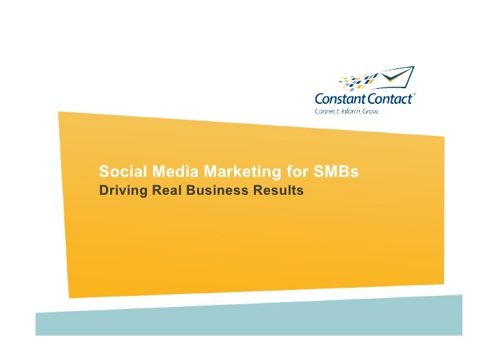Social Media Marketing for SMBs Driving Real Business Results
