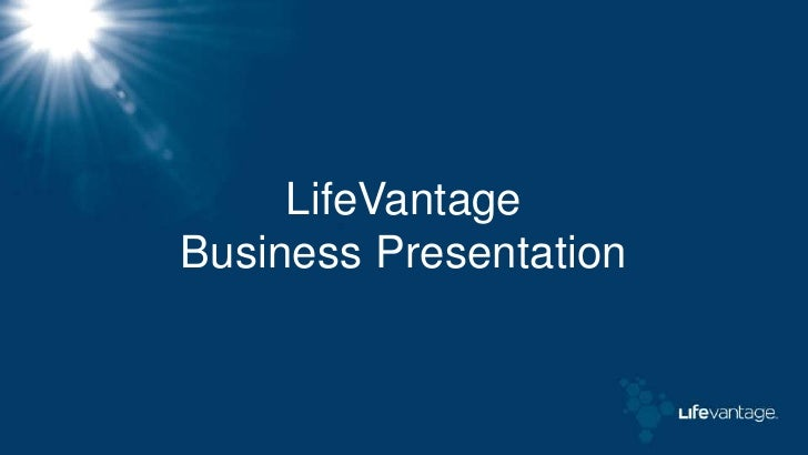 LifeVantageBusiness Presentation<br />