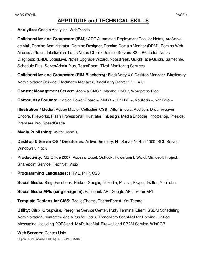 resume for mark spohn