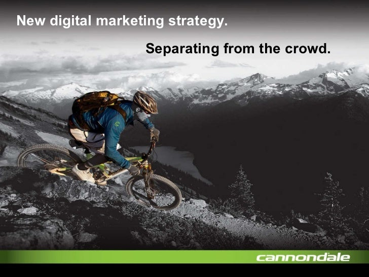 New digital marketing strategy. Separating from the crowd.