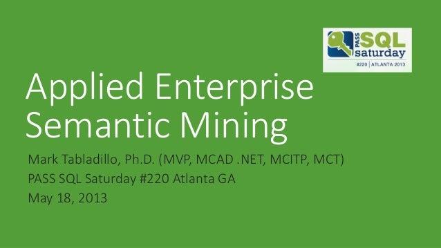 Applied Enterprise Semantic Search 201305
