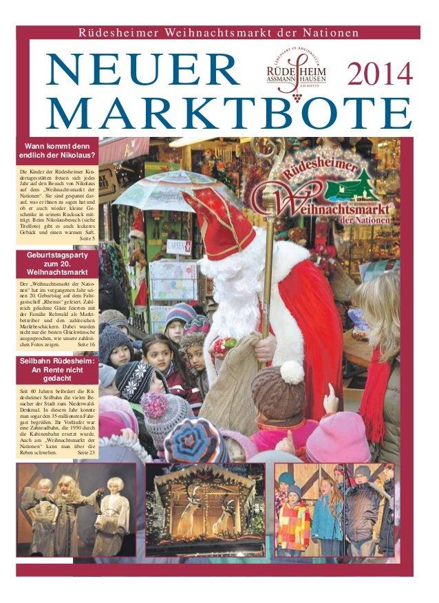 Rüdesheimer Weihnachtsmarkt der Nationen  NEUER 2014  MARKTBOTE  Wann kommt denn  endlich der Nikolaus?  Die Kinder der Rü...