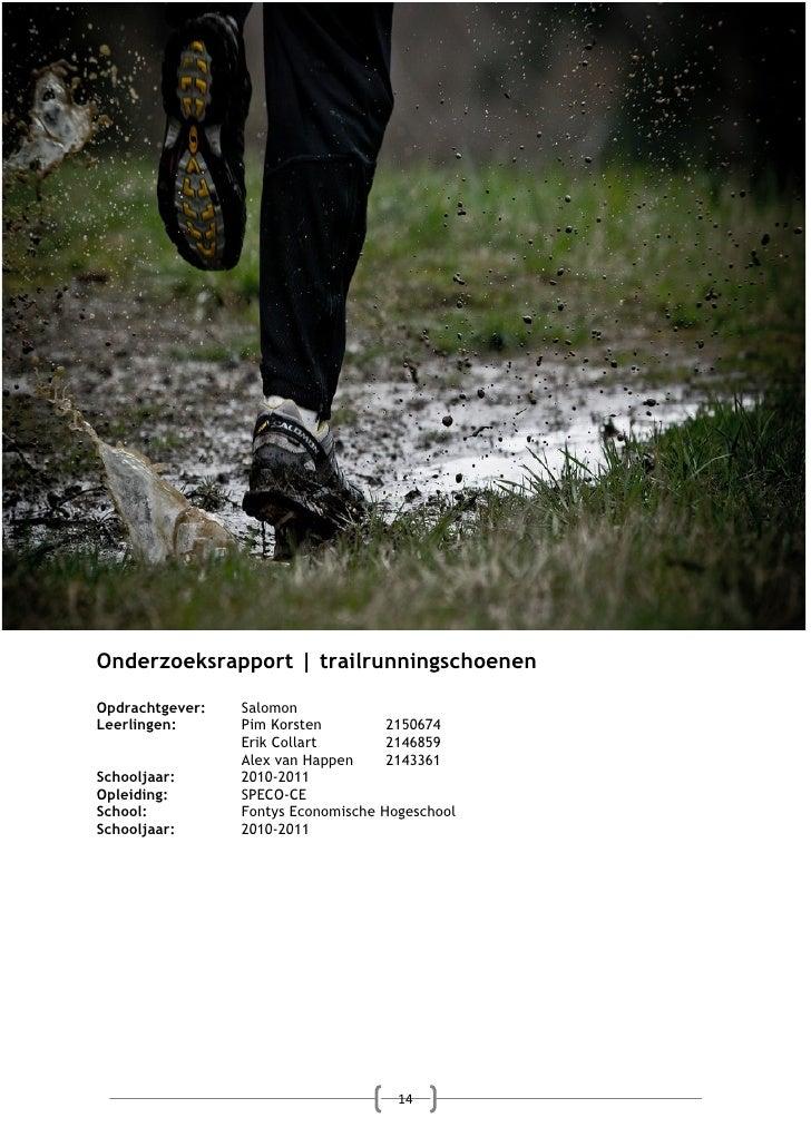 Onderzoeksrapport | trailrunningschoenenOpdrachtgever:   SalomonLeerlingen:      Pim Korsten          2150674             ...