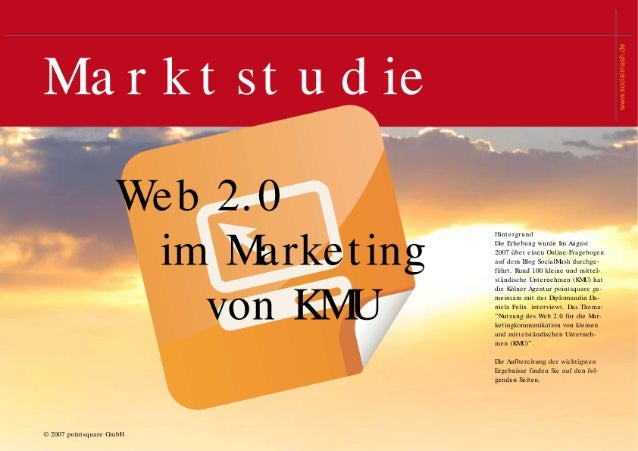 Marktstudie - Web 2.0 im Marketing von KMU