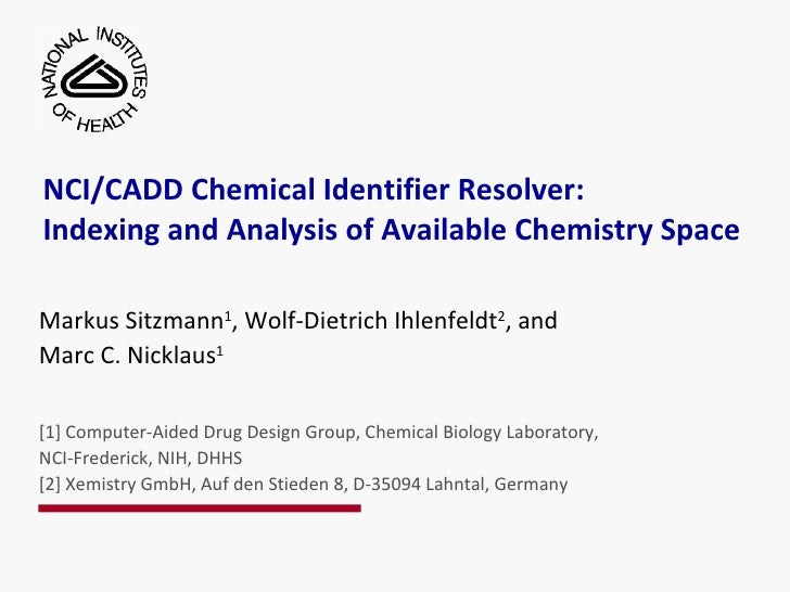 5th Meeting on U.S. Government Chemical Databases and Open Chemistry Talk