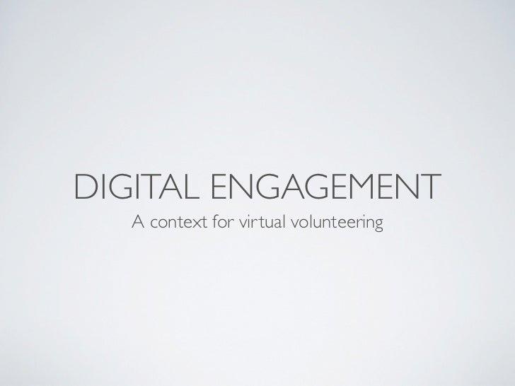 Mark virtual volunteering