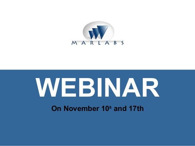 Marlabs Technology Webinar for Graduate Students November 2010