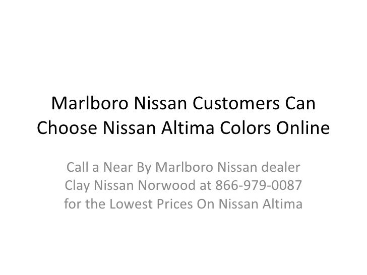 Marlboro Nissan Customers Can Choose Nissan Altima Colors Online<br />Call a Near By Marlboro Nissan dealer Clay Nissan No...
