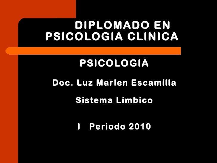 DIPLOMADO EN PSICOLOGIA CLINICA <ul><li>PSICOLOGIA </li></ul><ul><li>Doc. Luz Marlen Escamilla </li></ul><ul><li>Sistema L...