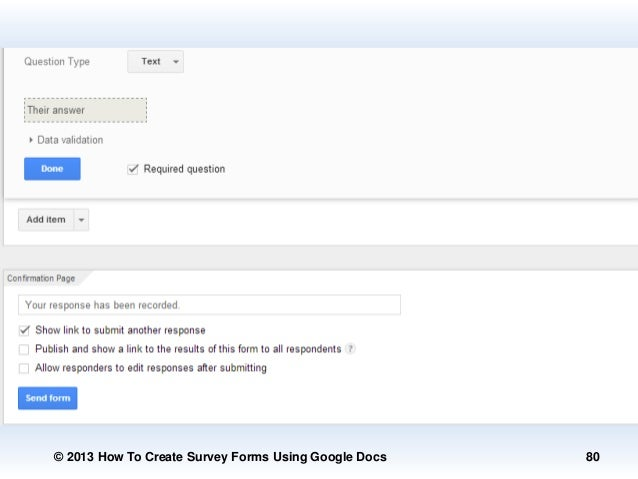 how to make a survey on google docs