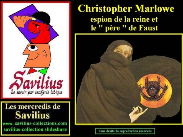 Marlowe espion et père de Faust