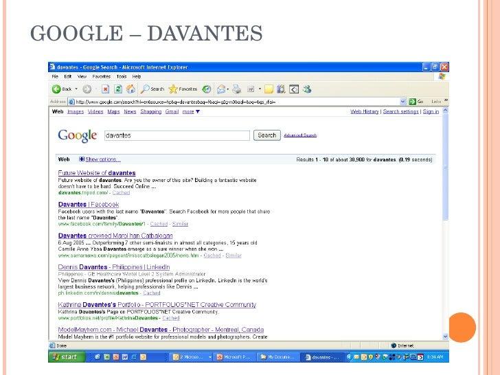 GOOGLE – DAVANTES