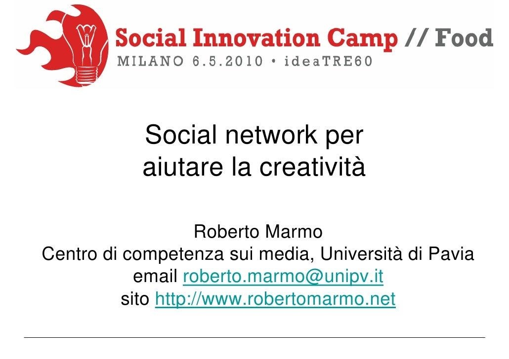 Social network per la creatività