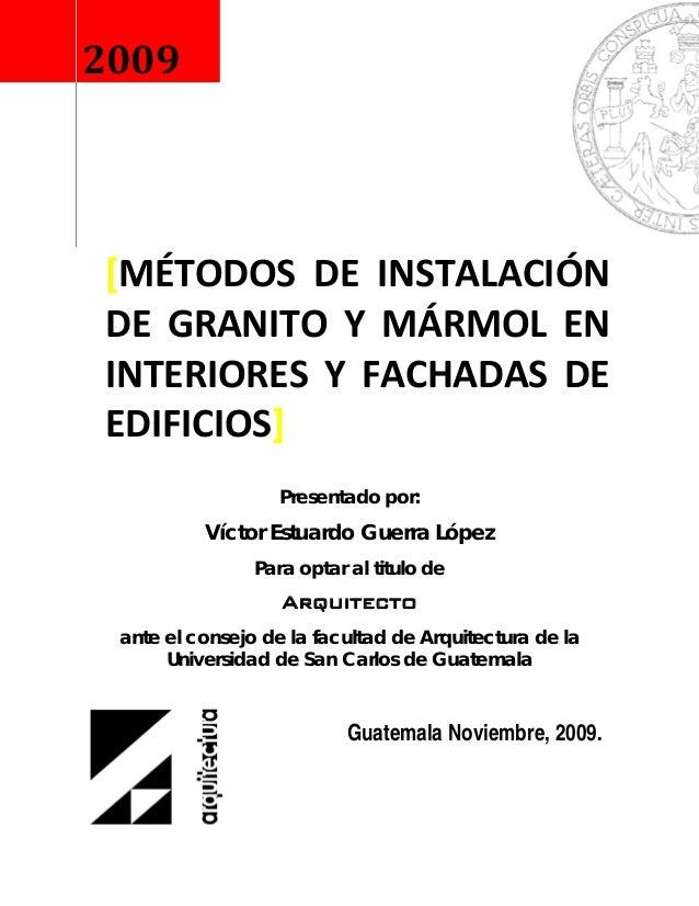 Presentado por:Víctor Estuardo Guerra LópezPara optar al titulo deArquitectoante el consejo de la facultad de Arquitect...