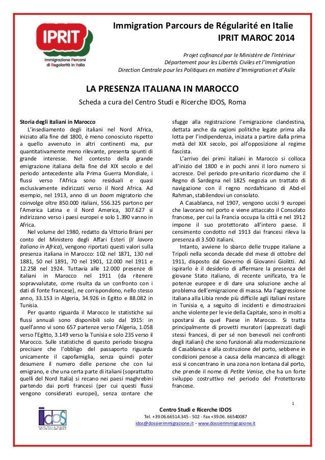 l immigration italienne en maroc