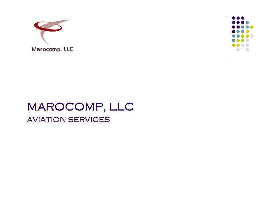 MAROCOMP, LLC AVIATION SERVICES