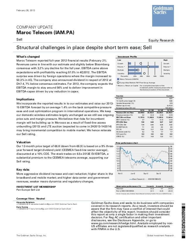 February 26, 2013COMPANY UPDATEMaroc Telecom (IAM.PA)Sell                                                                 ...