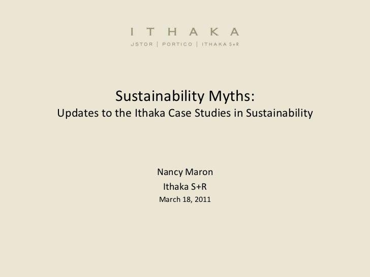 Sustainability Myths