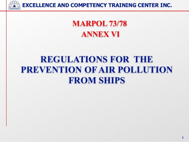 MARPOL Annex VI - Air pollution from Ships