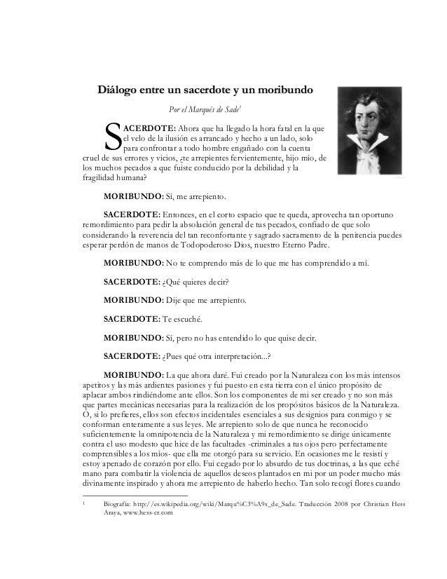 Dialogo entre un sacerdote y un moribundo - Marques de sade