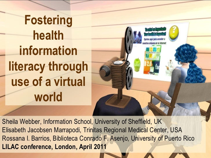 Fostering health information literacy through use of a virtual world