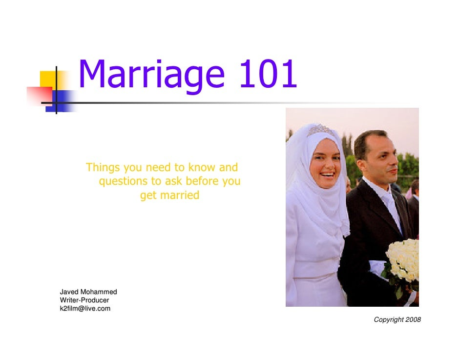 Marriage 101 Rev1