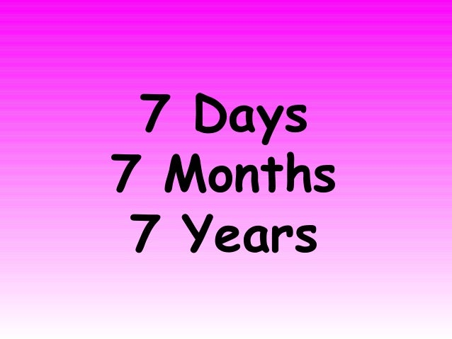 7 Days7 Months 7 Years