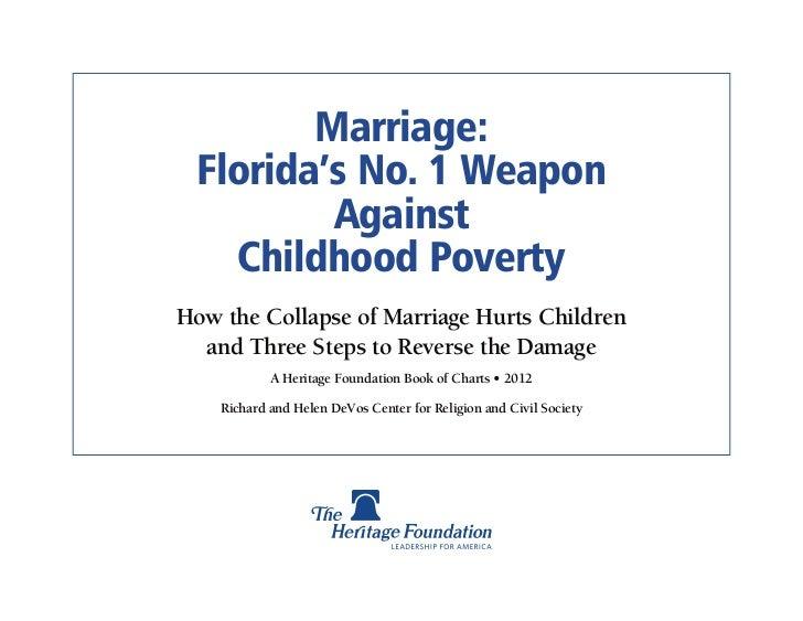 Marriage Poverty - Florida
