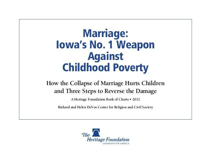 Marriage Poverty - Iowa