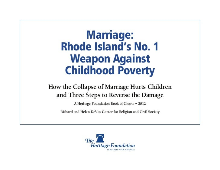 Marriage Poverty - Rhode Island