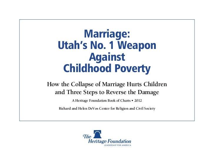 Marriage Poverty - Utah