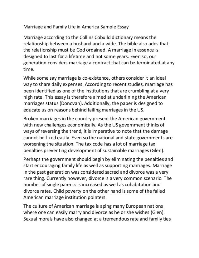 Personal narrative essay on marriage