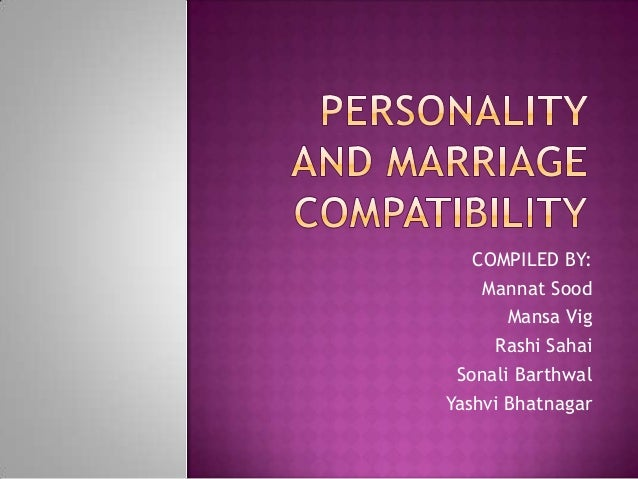 Marriage & personality