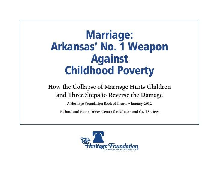 Marriage & Poverty: Arkansas