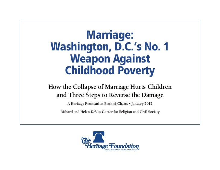 Marriage & Poverty: District of Columbia