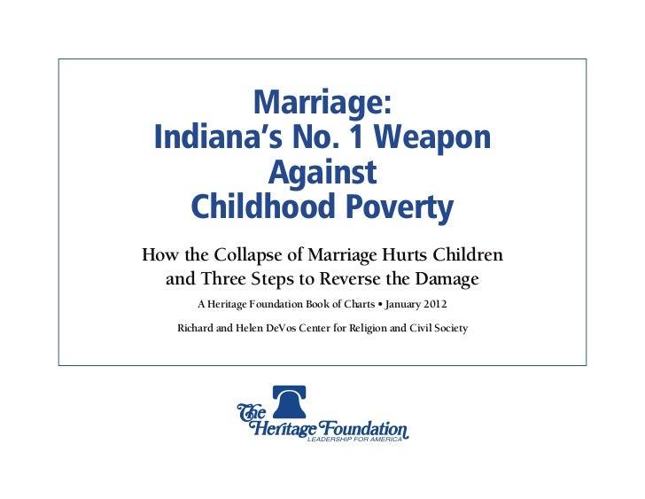 Marriage & Poverty: Indiana