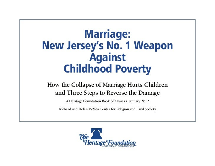 Marriage & Poverty: New Jersey