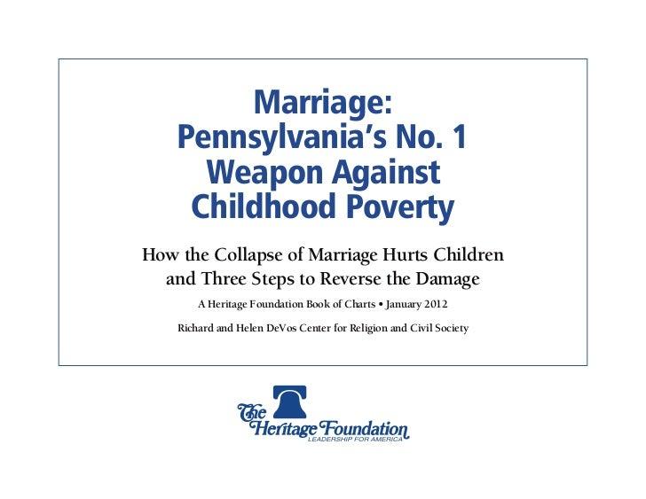Marriage & Poverty: Pennsylvania