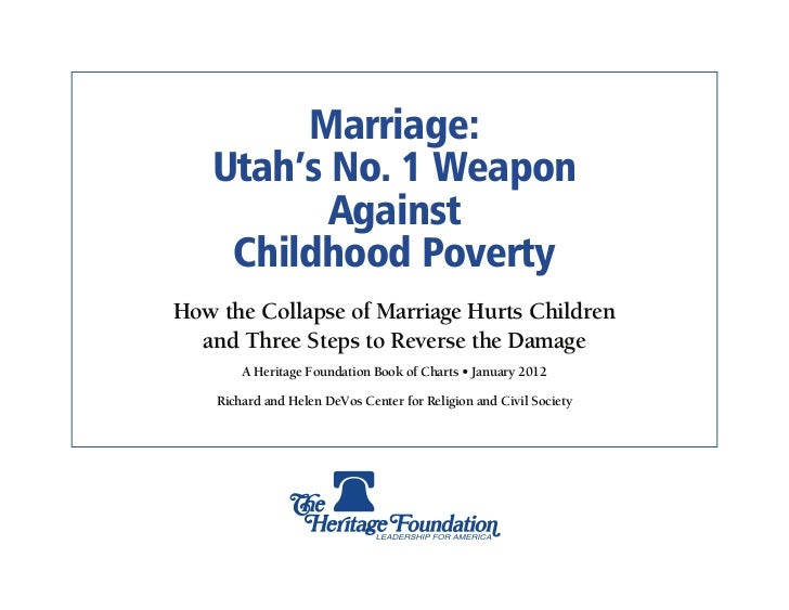 Marriage & Poverty: Utah